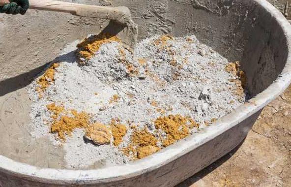 приготовление раствора из белого цемента