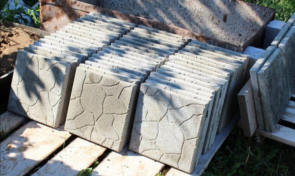 самостоятельное изготовление тротуарной плитки