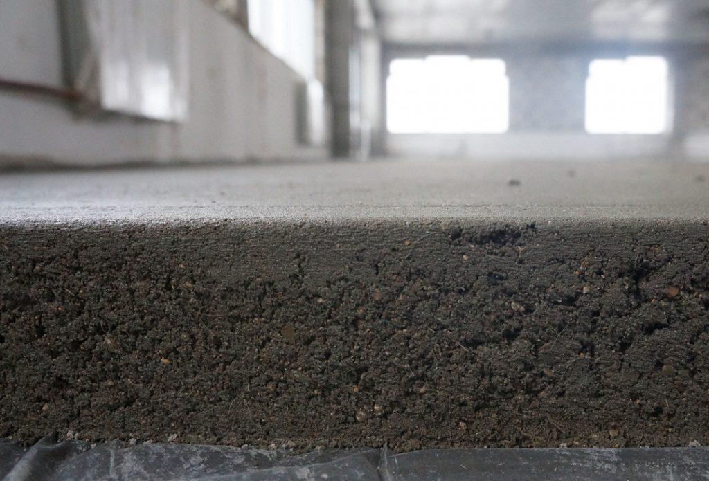 структура цементно-песчаной стяжки