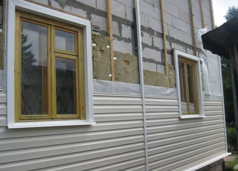 утепление фасада газобетонного дома