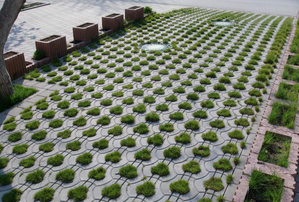виды решеток для газона из бетона