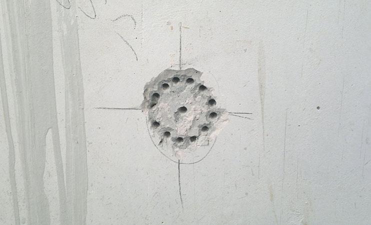 выполнение отверстий в бетоне для подрозетника