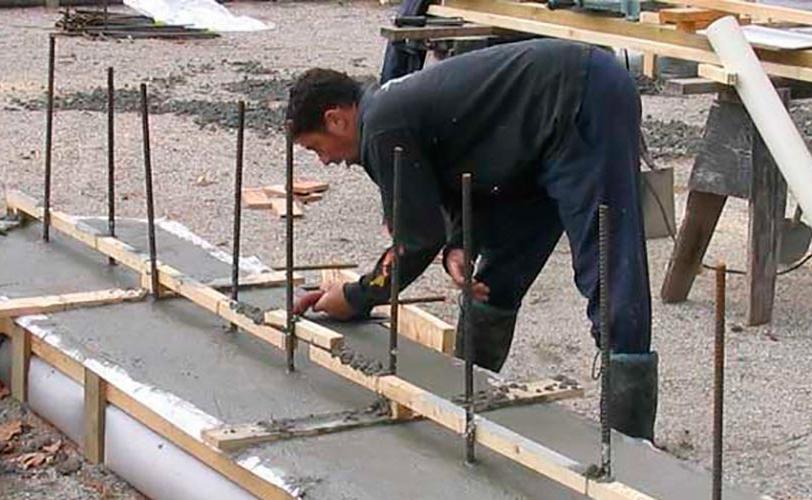 заливка фундамента бетоном б15
