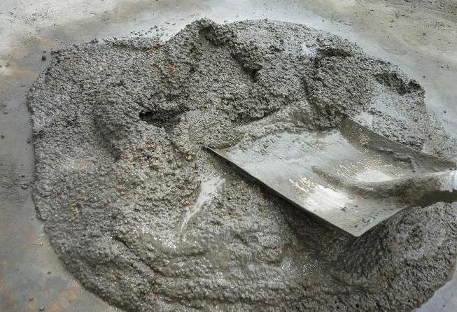 замеч смеси из песка и цемента
