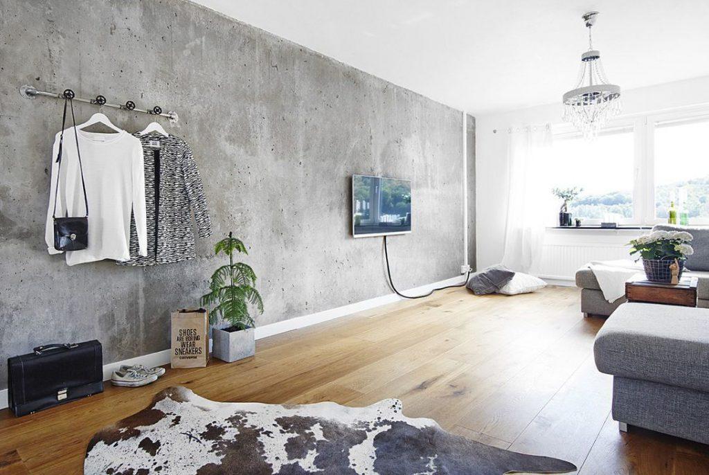 бетон в дизайне интерьере