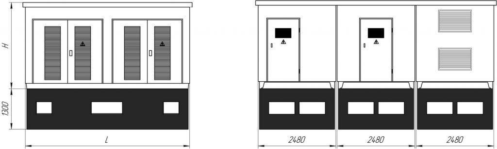 бетонные корпуса для подстанций