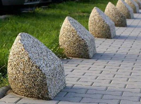 бетонные ограничительные тумбы для парковки
