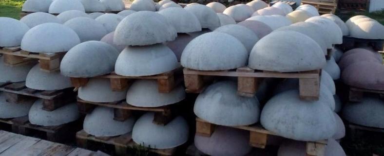 бетонные полусферы ограничители