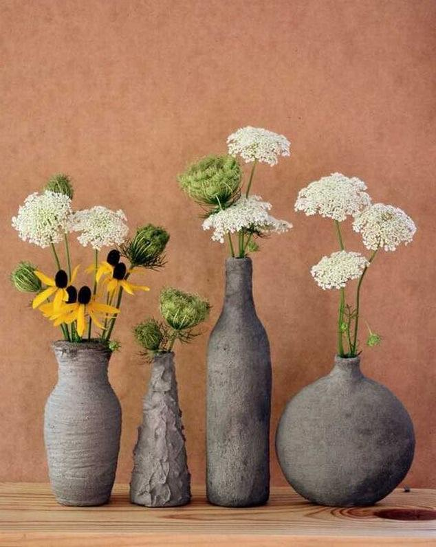 бетонные вазы для дома