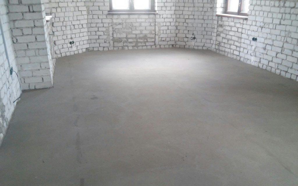 бетонный пол в частном доме своими руками