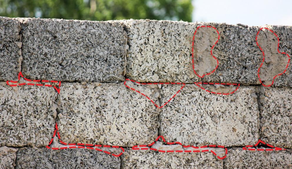 брак в блоках арболита