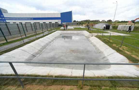 демонстрационный парк бетонного полотна
