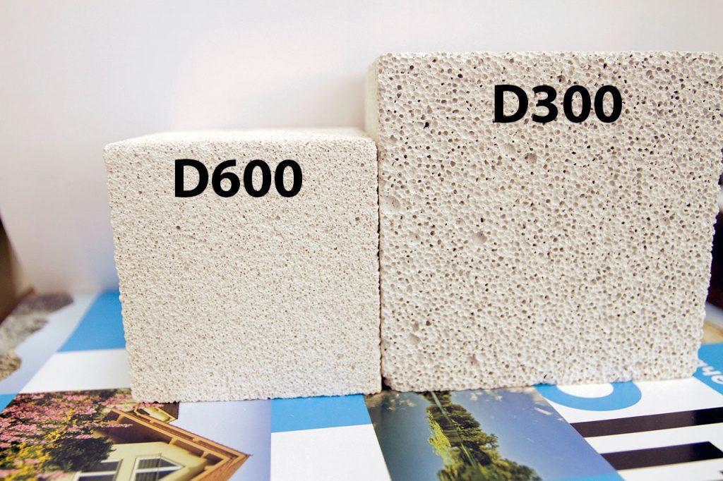 газобетонные блоки разной плотности
