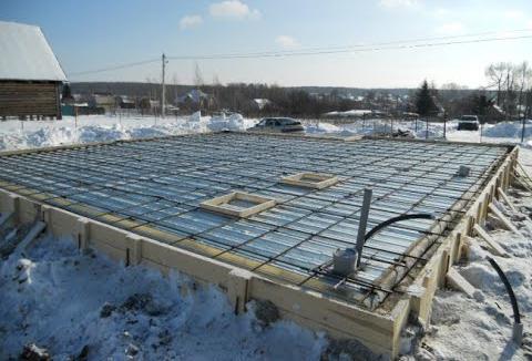 как бетонировать в зимнее время