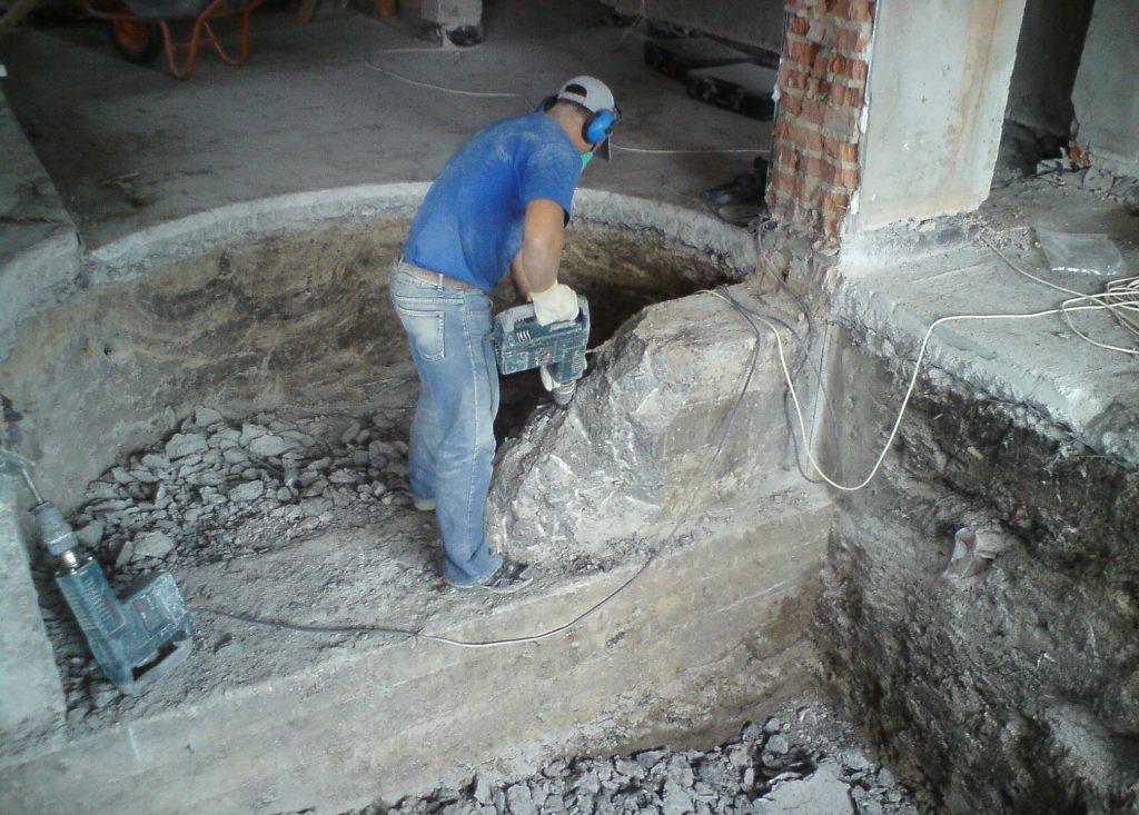 как осуществляется демонтаж бетона