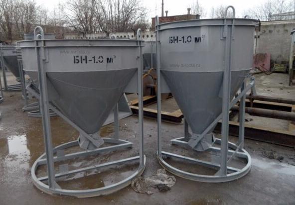 как правильно выбрать бадью для бетона