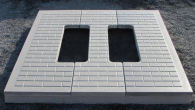 как выглядит бетонная плита под памятник