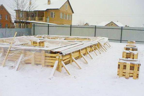 как заливать бетон в зимнюю пору
