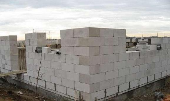 кладка стен для бани из газобетона