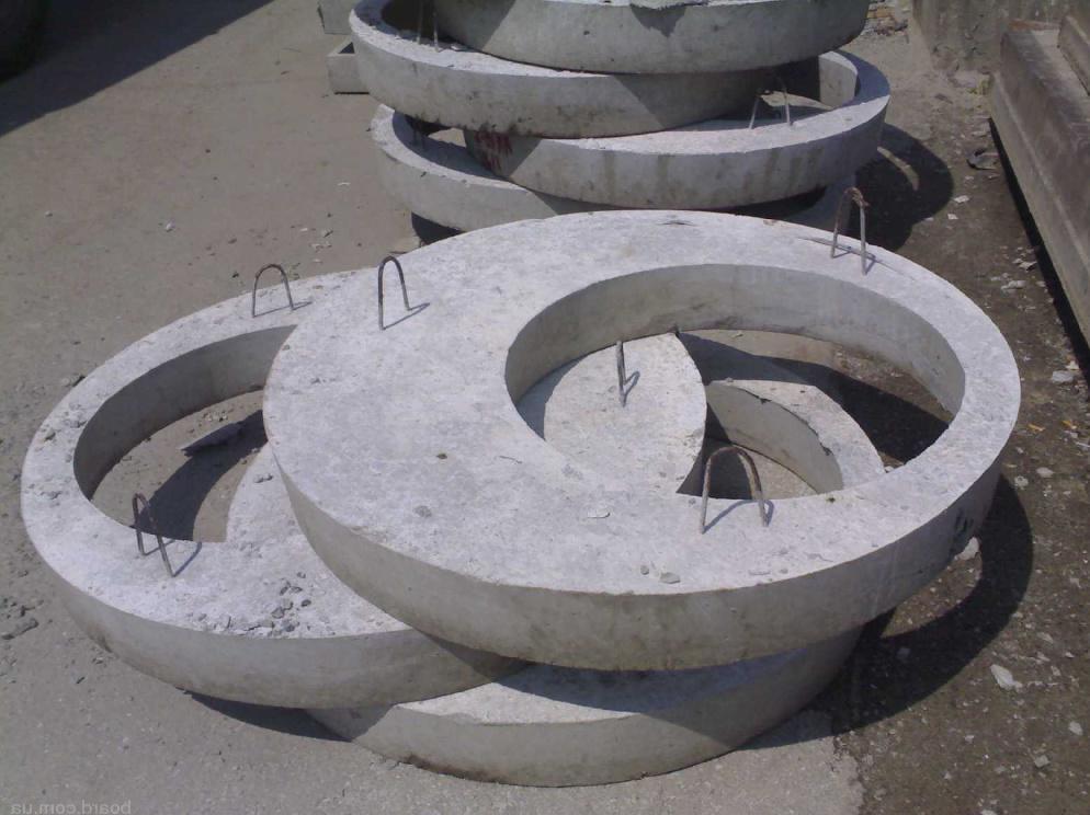 конструкция колодезной крышки из бетона