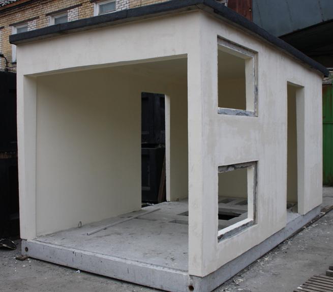 коробка из бетона для трансформаторной подстанции