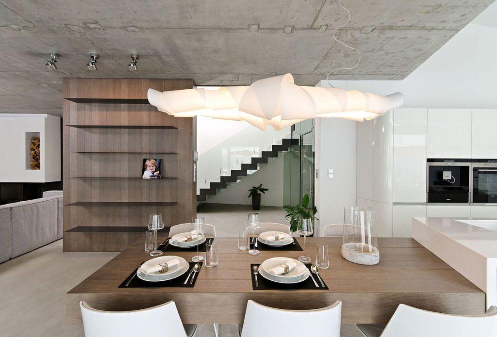 необработанный бетон в декоре жилья