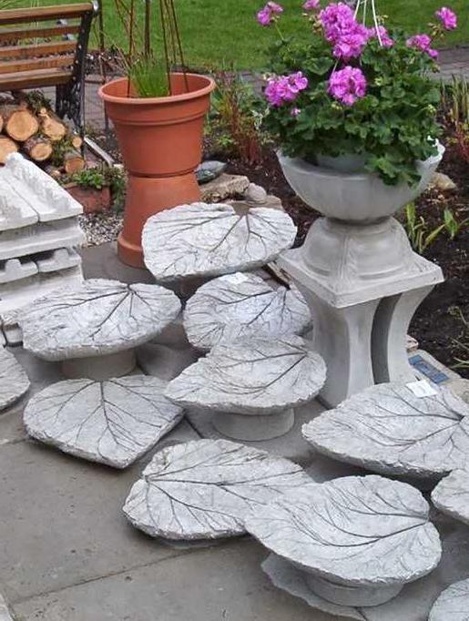 необычные цветочницы из бетона
