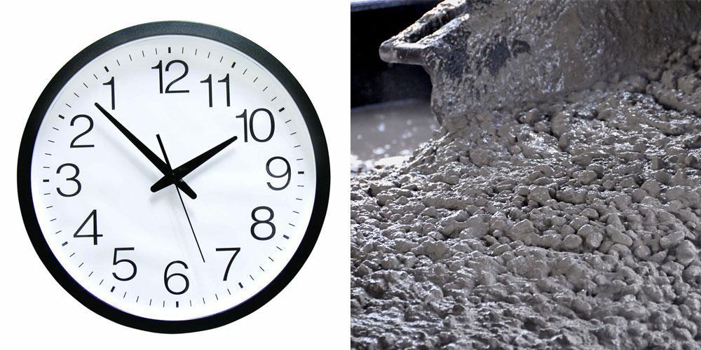 оптимальное время твердения бетона