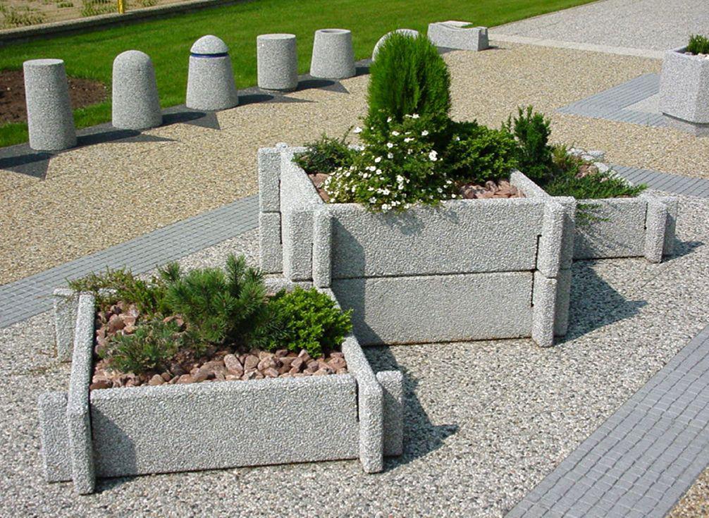 оригинальные бетонные цветочницы