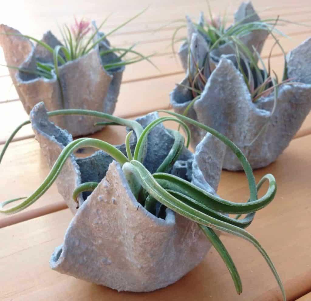 оригинальные бетонные вазы