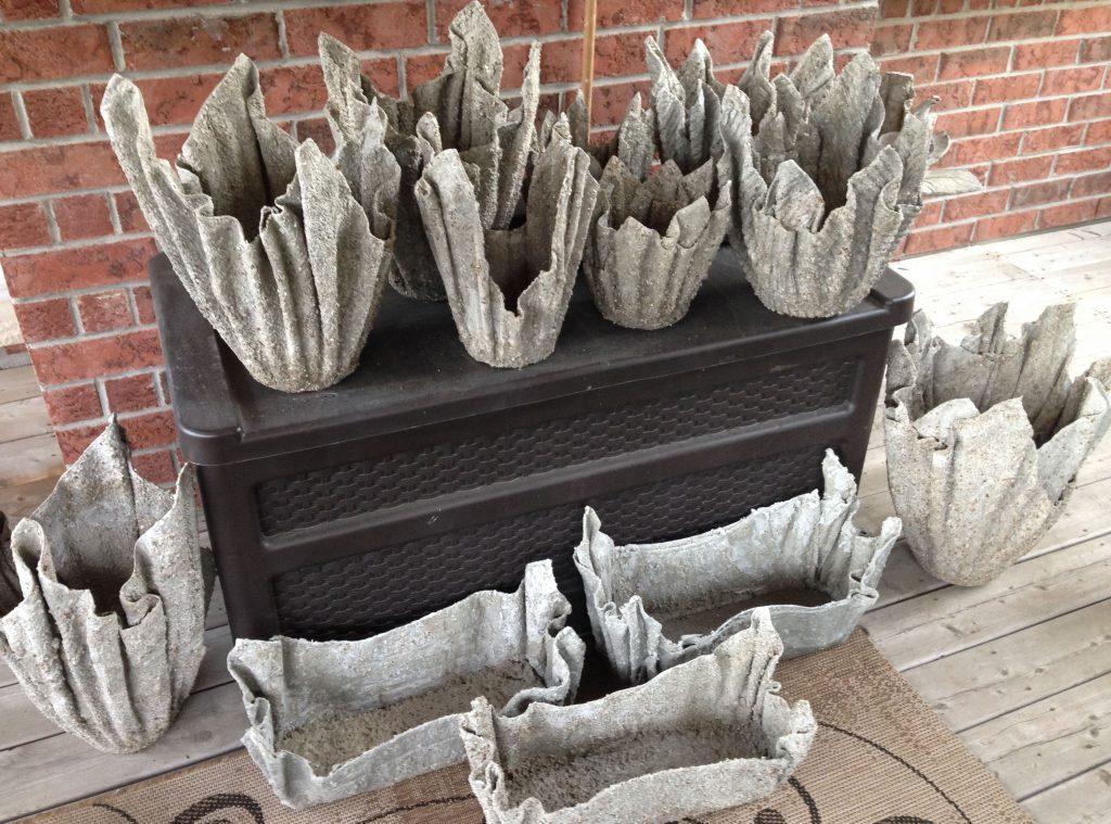 производство оригинальных бетонных ваз с использованием полотенец