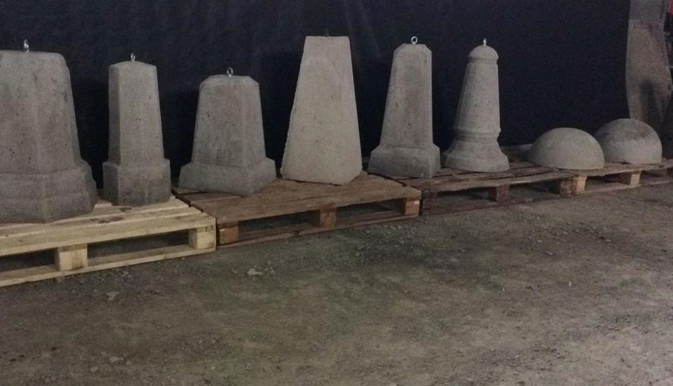 разновидности бетонных столбиков парковочных