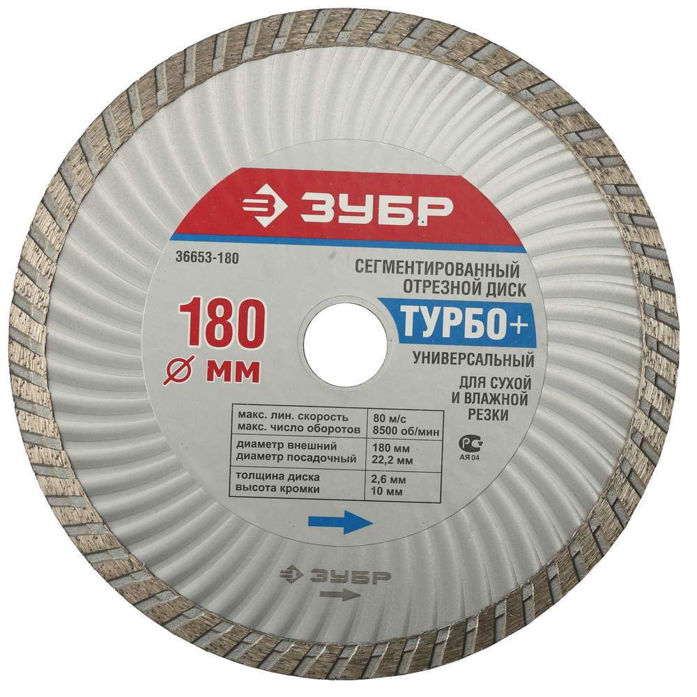 сегментированный отрезной диск зубр