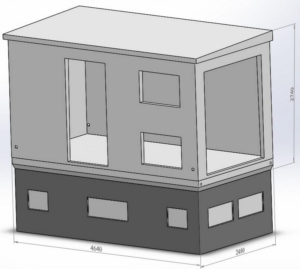 схема бетонного корпуса для подстанции