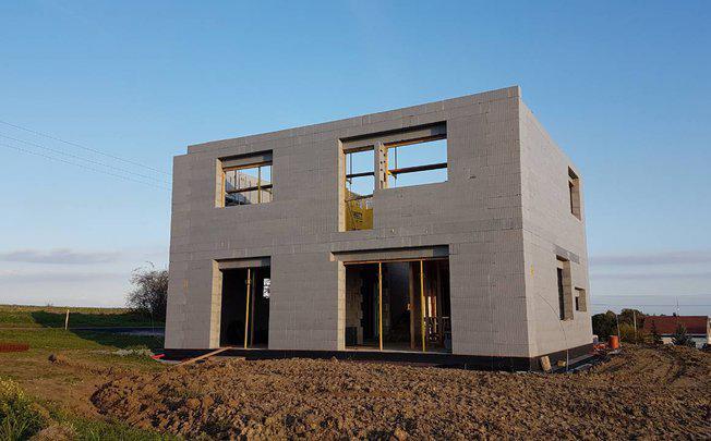 строительство дома из бетона