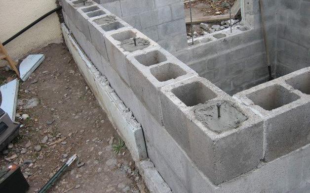 строительство из бетонного кирпича