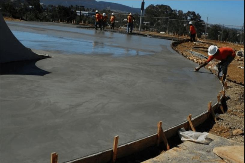 твердение залитого бетона