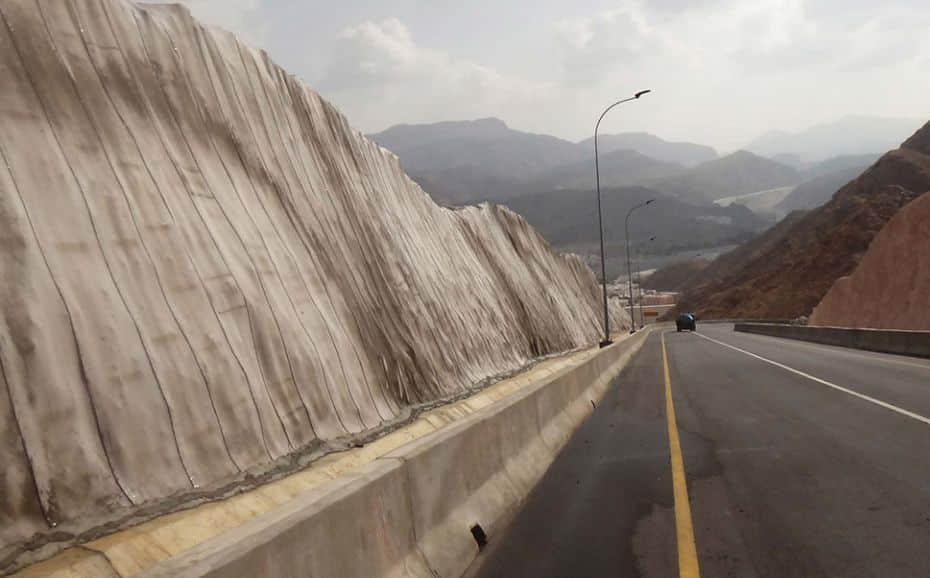 укрепление склона бетонной тканью
