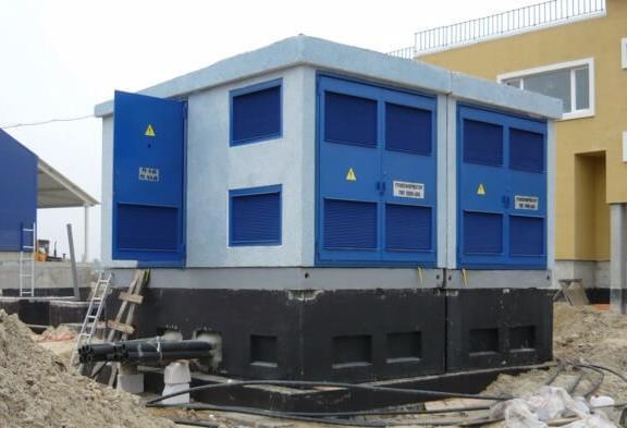 внешний вид бетонного корпуса для подстанции