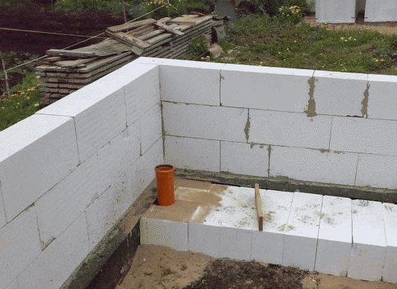 возведение стен из газоблока