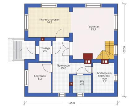 дом с мансардой площадью 150 квадратных метров