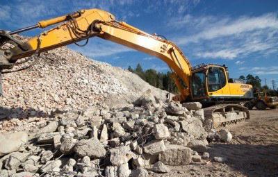 дробление и переработка бетона
