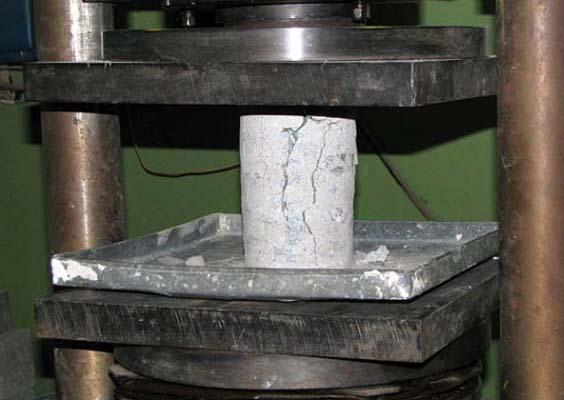испытания бетона под прессом