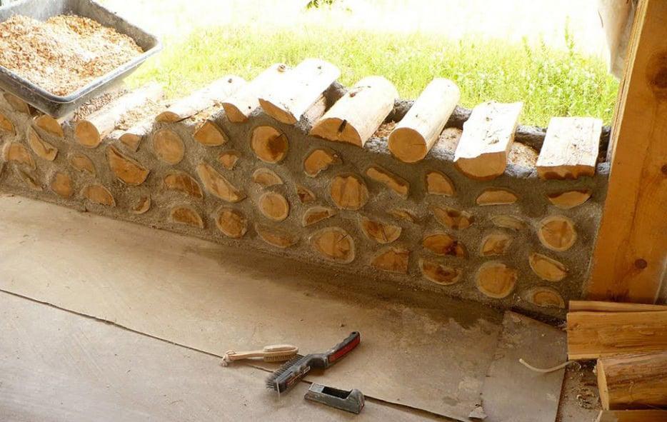 как построить дом из дров своими руками