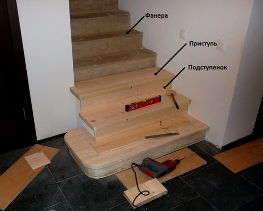 как правильно монтировать лестницу из дерева