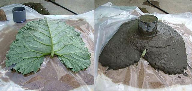 кашпо для цветов из листьев