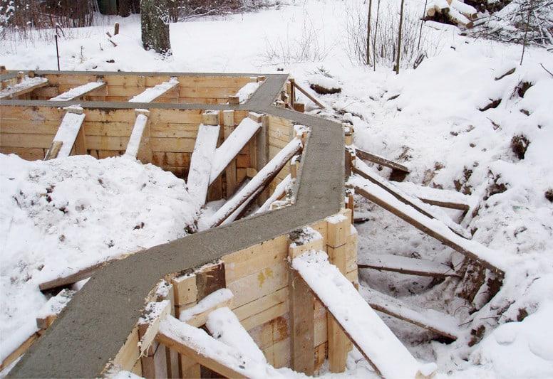 методы заливки бетона на морозе