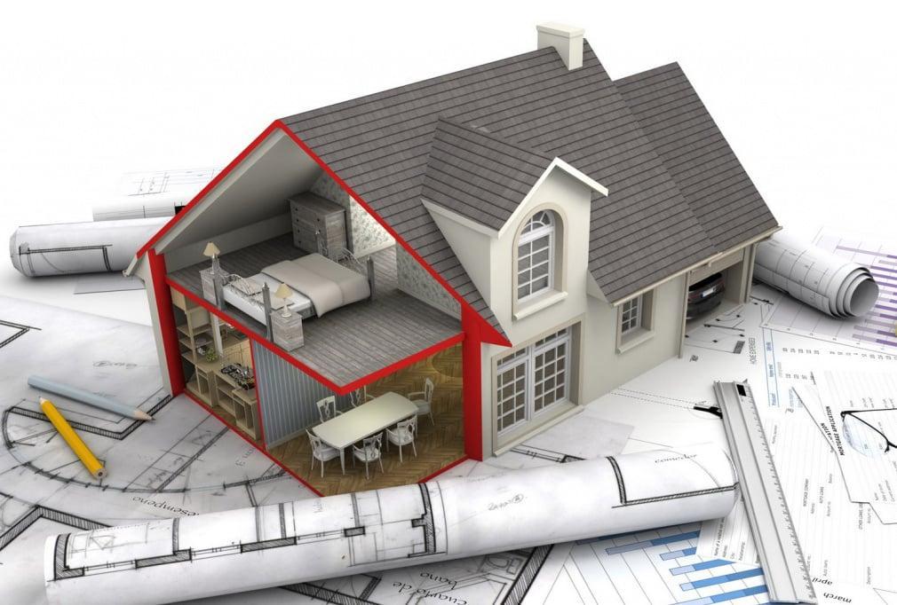 планировка и проект дома из газобетона с мансардой