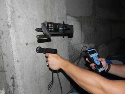 применение измерителя прочности бетона