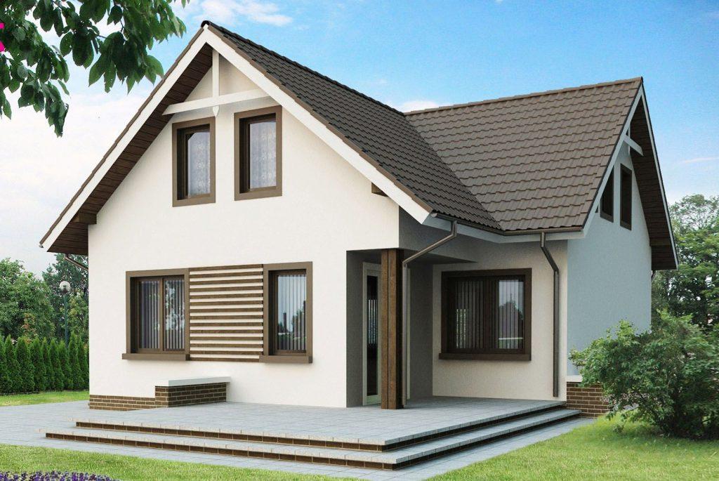 пример дома из газобетона 100 кв м